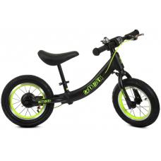 Детский беговел Profi Kids ML1202A-3 Черный с зеленым