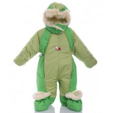 Детский зимний комбинезон Babykroha Трансформер Хаки с зелены