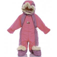 Детский зимний комбинезон Babykroha Трансформер Ярко-розовый