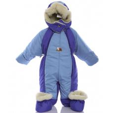Детский зимний комбинезон Babykroha Трансформер Бирюзово-сини