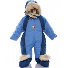 Детский зимний комбинезон Babykroha Трансформер Голубой  с те