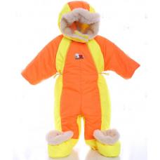 Детский зимний комбинезон Babykroha Трансформер Оранжевый с ж