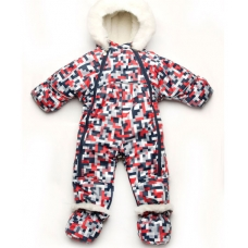 Детский зимний комбинезон-трансформер на меху Модный карапуз