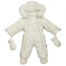 Детский зимний комбинезон-трансформер с отстегивающимся мехом