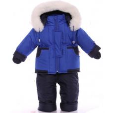 Детский зимний комбинезон Babykroha Малютка Синий