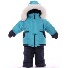 Детский зимний комбинезон Babykroha Малютка Бирюзовый