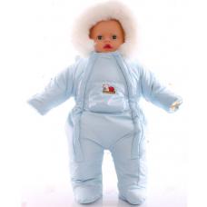 Детский зимний комбинезон Babykroha Человечек (однотонный) Св