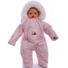 Детский зимний комбинезон Babykroha Человечек (цветной) Розов