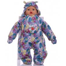 Детский весенний комбинезон Babykroha Человечек (цветной) Зел