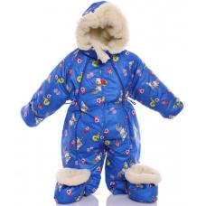 Детский зимний комбинезон Babykroha Трансформер (цветной) Син