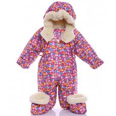 Детский зимний комбинезон Babykroha Трансформер (цветной) Мал