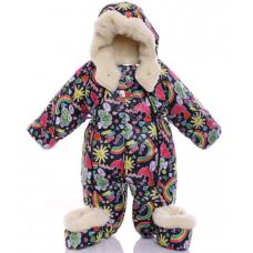 Детский зимний комбинезон Babykroha Трансформер (цветной) Рад