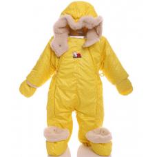Детский зимний комбинезон Babykroha Трансформер (цветной) Жел