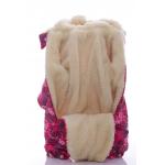 Детский зимний комбинезон Babykroha Трансформер (цветной) Малиновый с сердечками