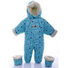 Детский зимний комбинезон Babykroha Трансформер (цветной) Мят