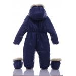 Детский зимний комбинезон Babykroha Трансформер (цветной) Синий со звездами