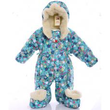 Детский зимний комбинезон Babykroha Трансформер (цветной) Зел