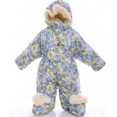 Детский зимний комбинезон Babykroha Трансформер (цветной) Сер
