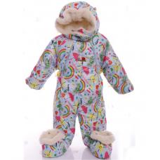 Детский зимний комбинезон Babykroha Трансформер (цветной) Гол