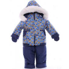 Детский зимний комбинезон Babykroha Малютка Голубой миньйон