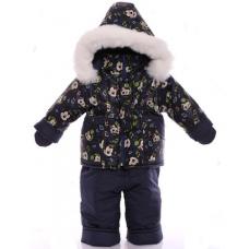 Детский зимний комбинезон Babykroha Малютка Синий Микки Маус