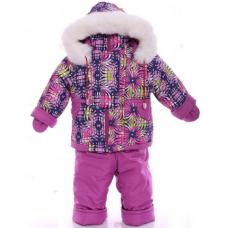 Детский зимний комбинезон Babykroha Малютка Розовая абстракци