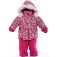 Детский зимний комбинезон Babykroha Малютка Малиновый зоопарк