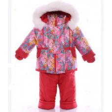 Детский зимний комбинезон Babykroha Малютка Красная галактика