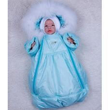 Зимний конверт-мешок Brilliant Baby Космонавт Ментол
