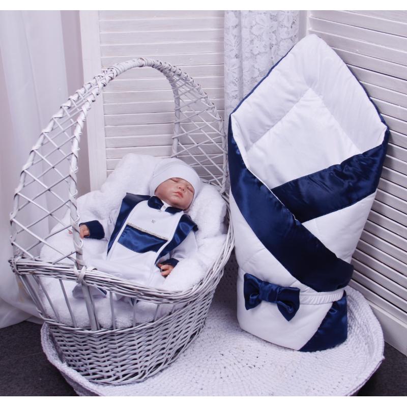 Комплект на выписку Brilliant Baby Стиль (4 предмета) Синий