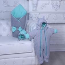 Демисезонный комплект на выписку Brilliant Baby Mini Ментол