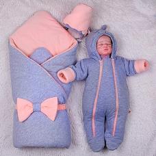 Демисезонный комплект на выписку Brilliant Baby Mini Персик
