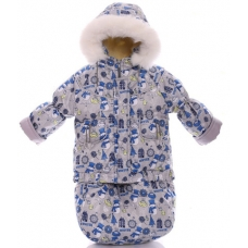 Зимний комбинезон 3 в 1 Babykroha Тройка Серый снеговик