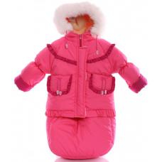 Зимний комбинезон 3 в 1 Babykroha Тройка (однотонный) Розовый