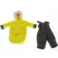 Зимний комбинезон 3 в 1 Babykroha Тройка (однотонный) Желтый