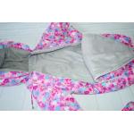 Зимний комбинезон-трансформер с отстегивающимся мехом Киндер Барни Розовый с сердечками