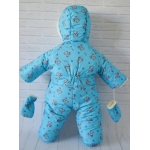 Детский зимний комбинезон-трансформер Киндер Крошка Голубой New