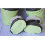 Зимний комбинезон-трансформер с отстегивающимся мехом Киндер Барни (однотонный) Зеленый