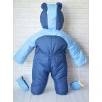Зимний комбинезон-трансформер с отстегивающимся мехом Киндер Барни (однотонный) Голубой