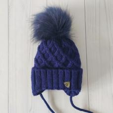Детская зимняя шапка для мальчика Киндер Baby Синий
