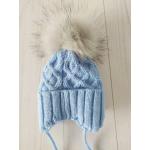 Детская зимняя шапка для мальчика Киндер Baby Голубой