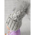 Детская зимняя шапка для мальчика Киндер Baby Серый