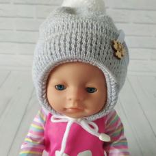 Детская зимняя шапка для мальчика Киндер Dream Серый