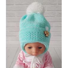 Детская зимняя шапка для мальчика Киндер Dream Бирюзовый