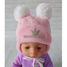 Детская зимняя шапка для девочки Киндер Dream Розовый