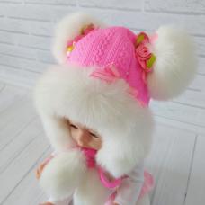 Детская зимняя шапка Киндер Анжелика Малиновый