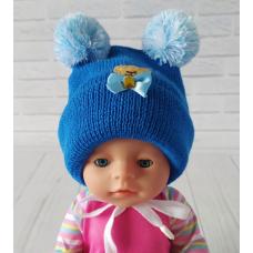 Детская зимняя шапка Киндер Teddy Синий