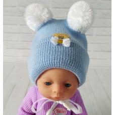 Детская зимняя шапка Киндер Teddy Голубой