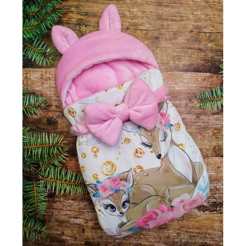 Конверт спальник для виписки ШкодаМода Bambi pink
