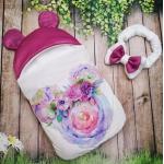 Конверт спальник для виписки ШкодаМода Flowers violet
